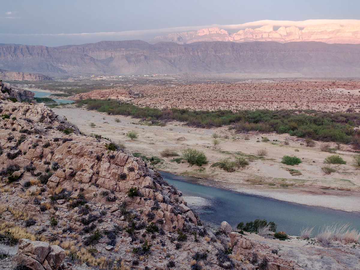 Looking towards Boquillas, Mexico
