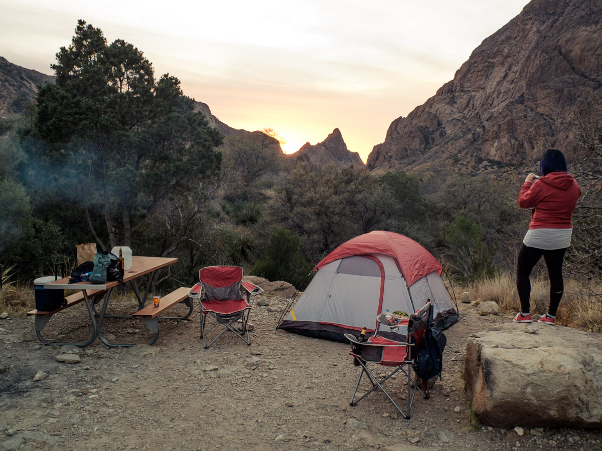 First night's camp, Chisos Basin